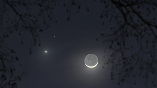 The Moon, Venus, & Mars In A Single Frame