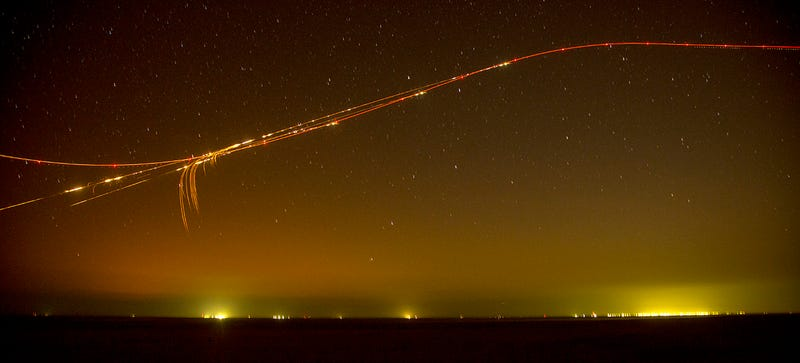 Look at the Graceful Path of an Attack Helicopter as It Spits Fire