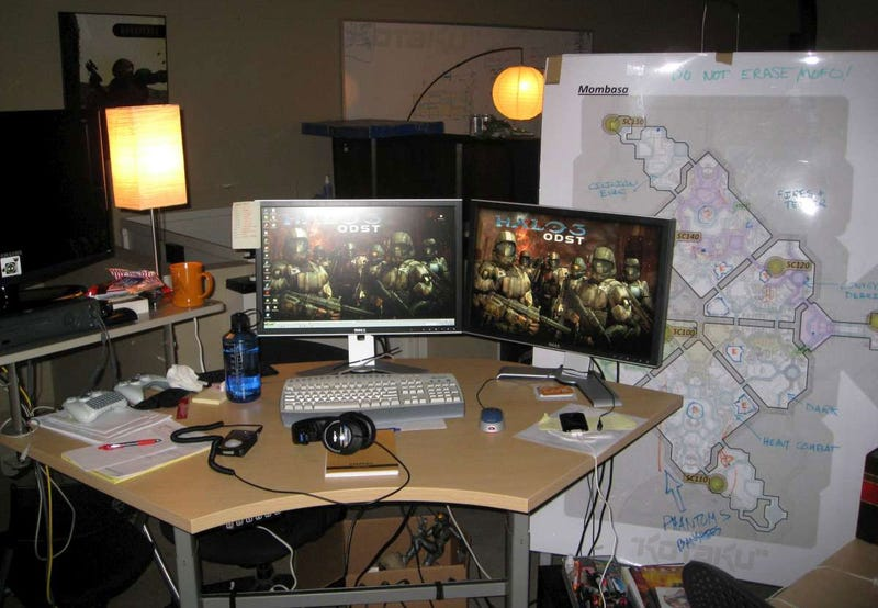 A Peek At Bungie's Office and One Really Big Halo ODST Map