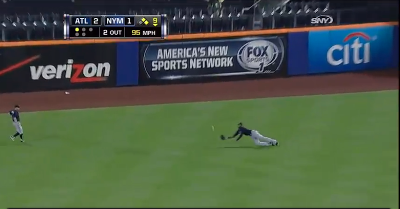 Jason Heyward Makes Diving Catch To Save Game Against Mets
