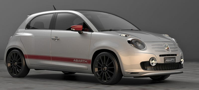 this four door fiat 600 abarth concept is something we can get behind. Black Bedroom Furniture Sets. Home Design Ideas