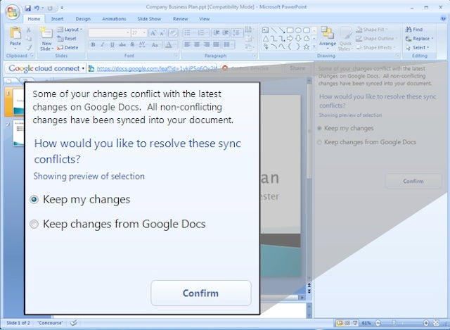 Google Cloud Connect Syncs Microsoft Office With Google Docs