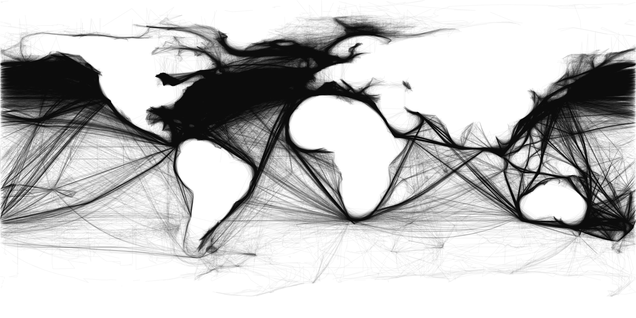See the Global Shipping Revolution In These Beautiful Ocean Maps