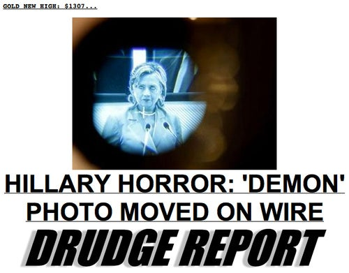 This Photo Proves Hillary Clinton Is a Demon, Says Matt Drudge