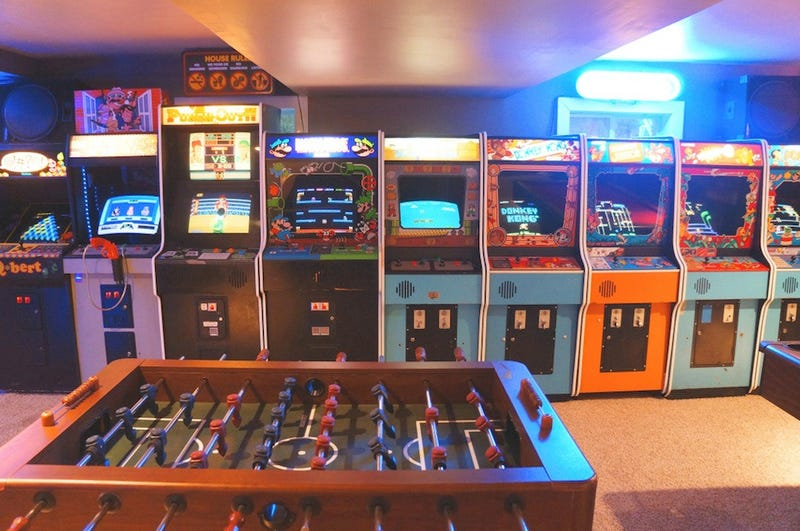 All-Star Dad Builds Incredible Basement Arcade With His Son
