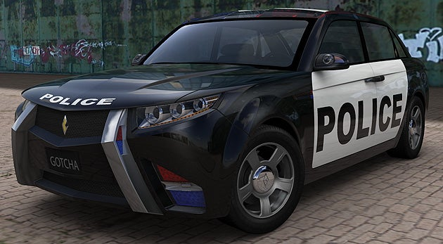 E7 Cop Car of the Future Still Despises Batmobile