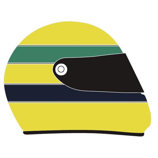 Senna Helmet Illustration