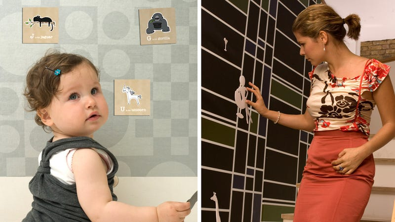 Magnetic Wallpaper Turns Your Entire Home Into a Fridge Door