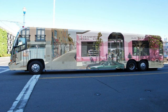 Why A Trompe L'Oeil Tech Bus Is Upsetting San Franciscans