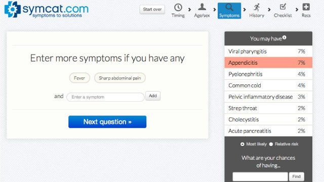 Symcat Diagnoses Your Health Symptoms Like a Doctor Would, Then Tells You What To Do