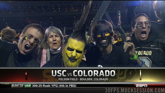 This Guy Was So Jacked Up For USC-Colorado He Decided To Get A Wacky Haircut