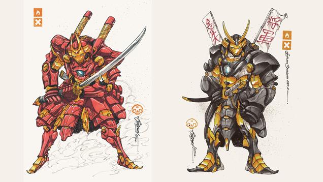 Iron Man Looks Badass In Samurai Mech Armor
