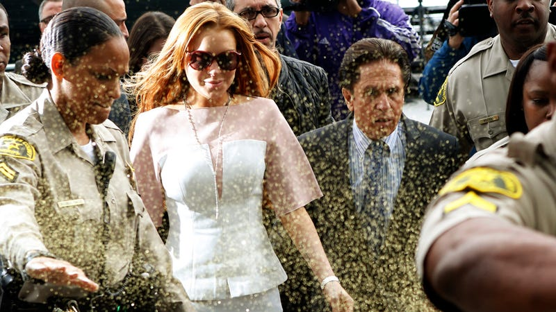Lindsay Lohan Is Headed Back to Rehab; Her Dad Screamed at Her Lawyer Outside the Court (UPDATE)