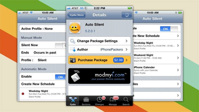 Auto Silent Silences Your Jailbroken iPhone, iPod touch, or iPad on a Schedule
