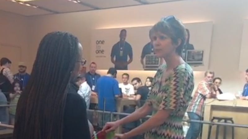 Angry Apple Store Lady's Meltdown Represents the Fury in All of Us
