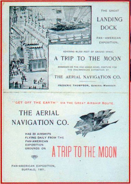 In 1901, you could pay 50 cents to ride an airship to the Moon
