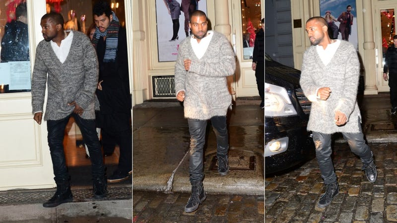 It's Raining and Kim Kardashian and Baby North Could Use a Little Help.