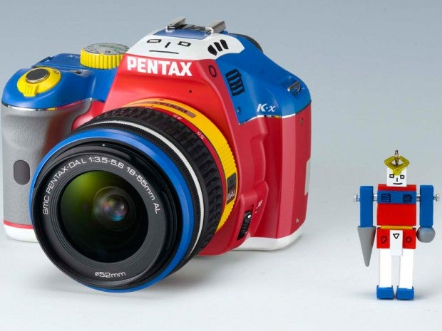 Pentax K-x Scores Kindergarten-Friendly 'Robotic Colors' Makeover