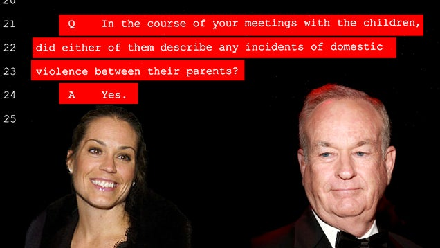 "Court Transcripts: Bill O'Reilly's Daughter Saw Him ""Choking Her Mom"""