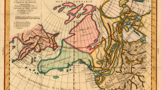 Beautiful (but inaccurate) 18th Century French map depicts Alaska like you've never seen it