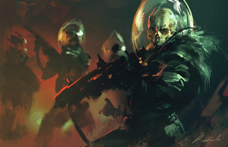 Concept Art Writing Prompt: Tales of the Black Skull Recon Squad