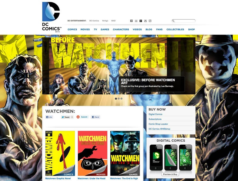 DC's New Website Will Have a Bunch of Exclusive Before Watchmen Content