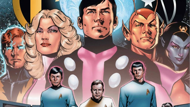 In the Star Trek/Legion of Superheroes crossover comic, Spock and Chameleon Boy will compliment each other's ears