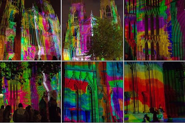Screaming Light Show Illuminates Goth Cathedral