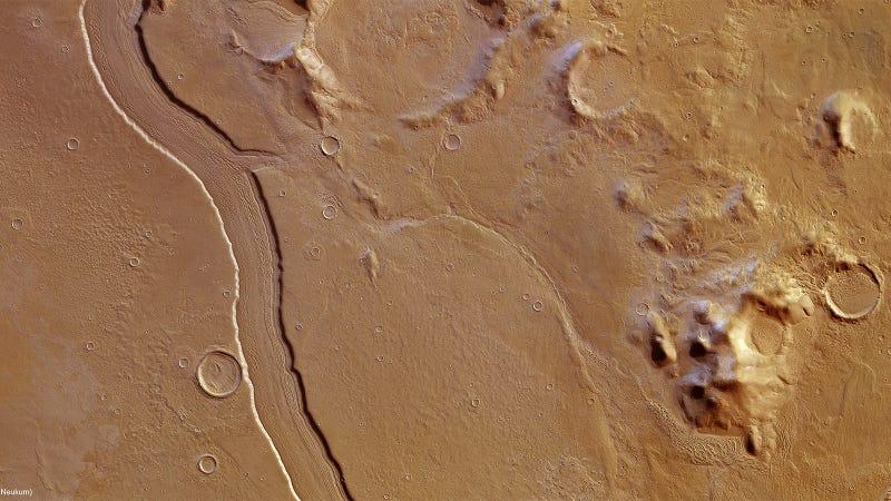Espectaculares imágenes 3D confirman la existencia de un antiguo río en Marte