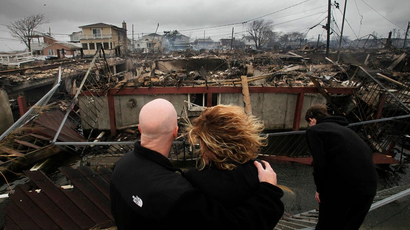 Breezy Point Couple Surveys the Remains of Their House