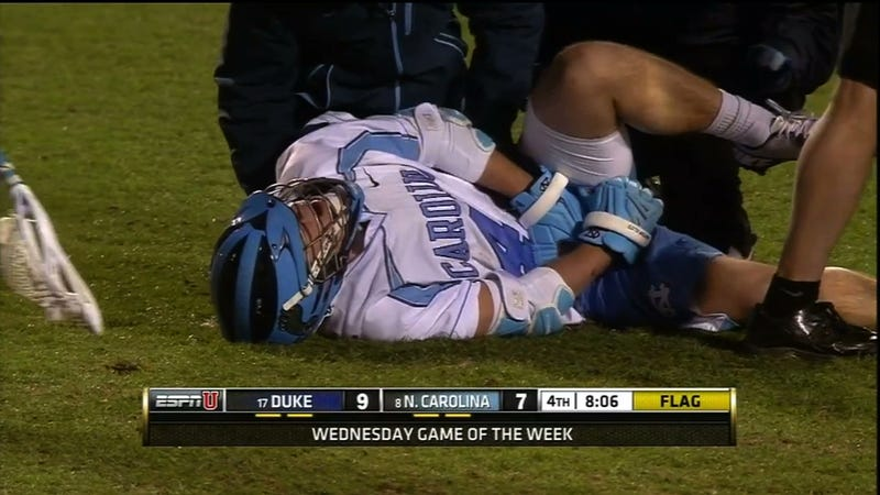 No Holds Are Barred When It Comes To The Duke-UNC Rivalry, Including Brutal Lacrosse Nutshots