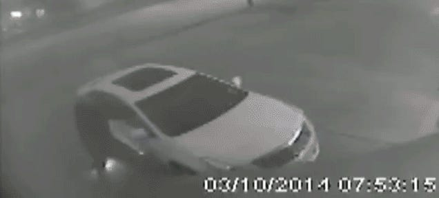 Houston Man Steps On Own Fire Bomb While Vandalizing Car