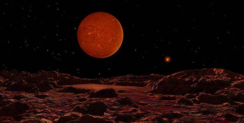Unusual Brown Dwarf Star Has Red Skies