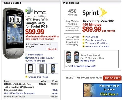Sprint's HTC Hero Takes Inevitable Price Dip to $100