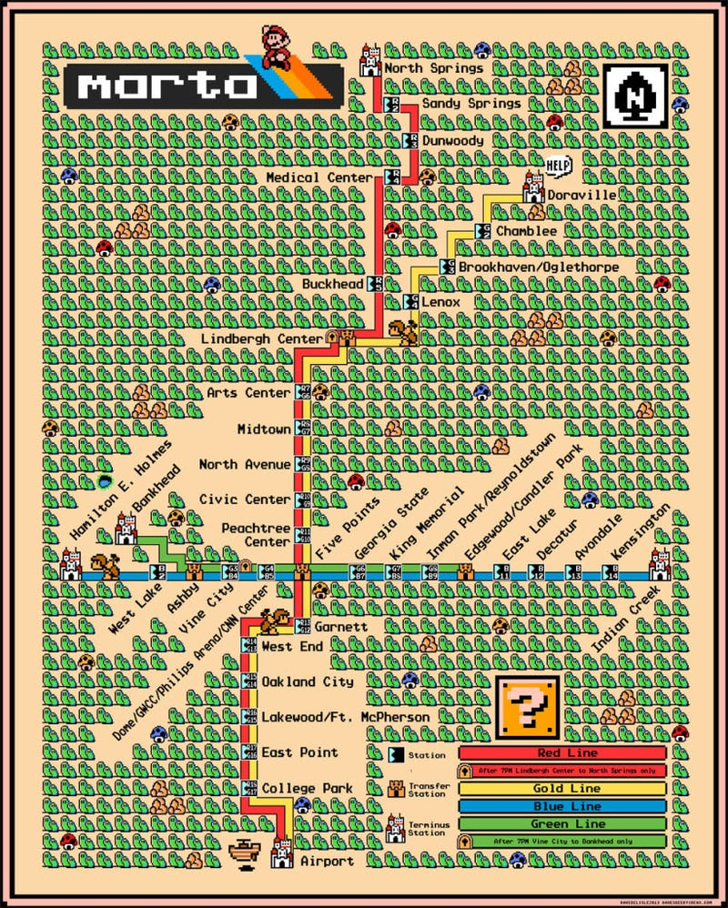 Awesome Mario Subway Maps Will Make You Want to Grab a Frog Suit