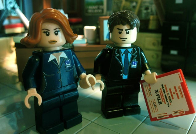 Gillian Anderson REALLY Wants Lego to Make an Official X-Files Set