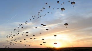 Paratroopers fill the sky in awesome photo