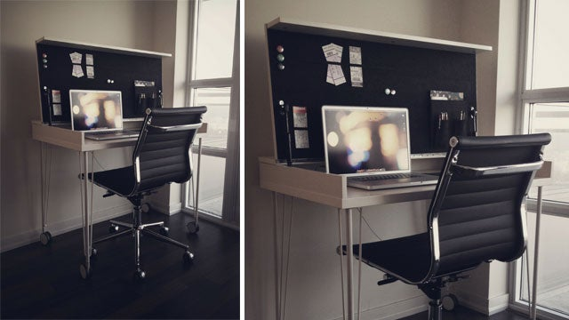 Fold It Up and Move It Around: A Compact Workspace on Wheels