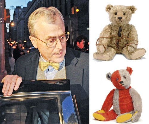 Fallen Hedge Funder So Poor, He Must Sell His Teddy Bear