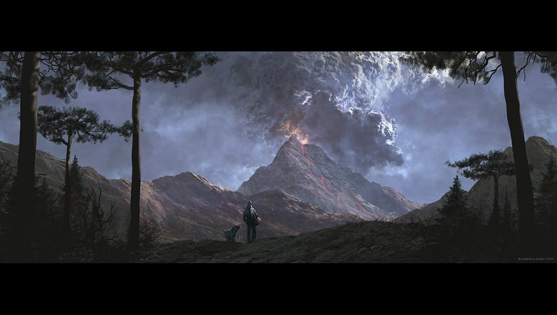 Nazi Explosions Meet Beautiful Landscape Paintings in This Video Game Concept Art