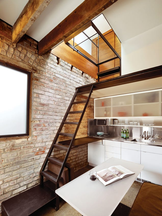There's an Entire House Crammed Into This Tiny 98-Year-Old Boiler Room