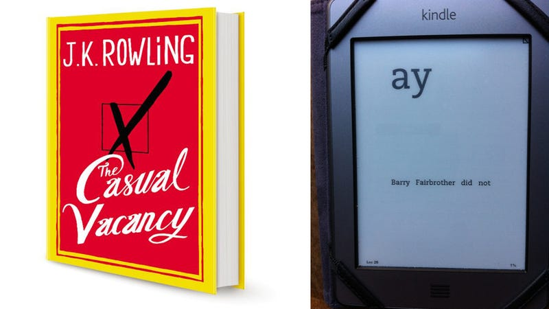 JK Rowling's New Book Is a Total Disaster on the Kindle (Updated)
