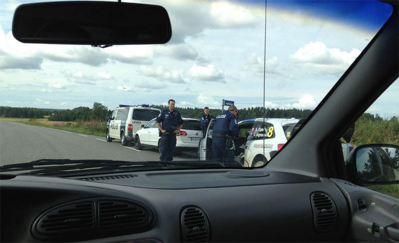 Finnish Police pull Sébastian Ogier over for doing 50 mph on a 35mph zone