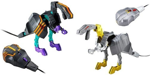 Trypticon Transformer Changes Into a Decepticon Assault Base Travel Mouse