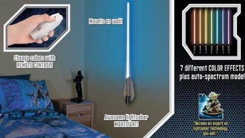 Ease Young Jedis At Bedtime With a RC Lightsaber Nightlight