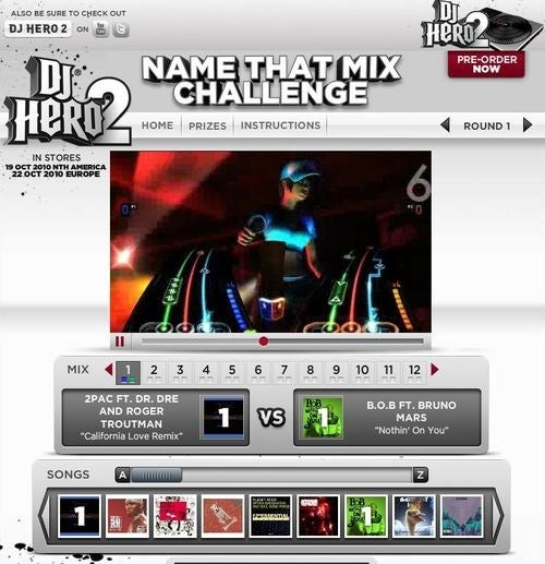 All 105 DJ Hero 2 Songs