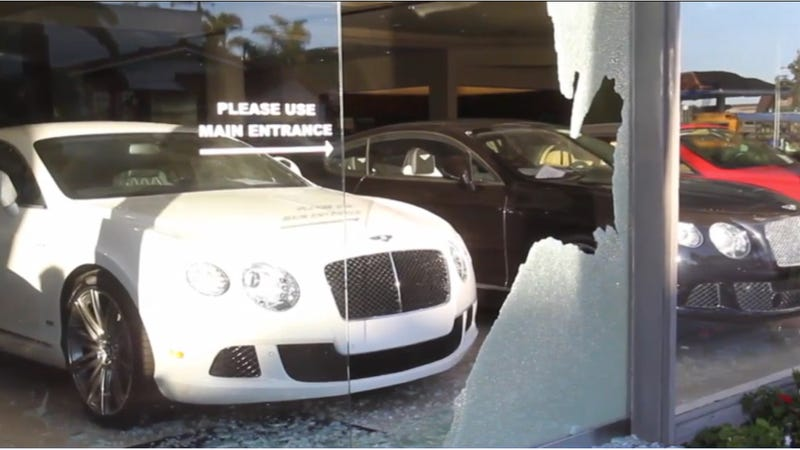 Burglars Decide To Steal Bentley Watches Instead Of Bentley Cars