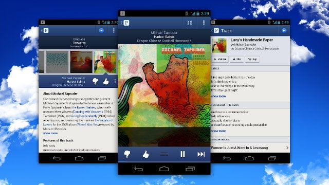 The New Pandora for Android Looks Great, Makes It Easy to Bookmark and Save Songs You Love