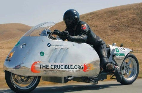 Die Bike Runs on Biodiesel, Capable of 130 mph