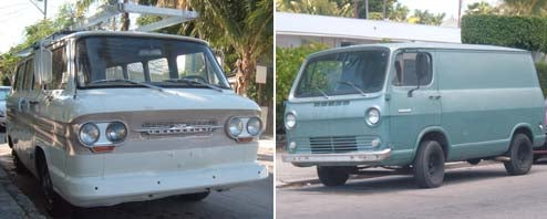 Forward-Control Vans Down On The Key West Street